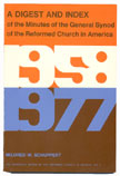 Digest & Index of the Minutes of the General Synod (1958-1977)